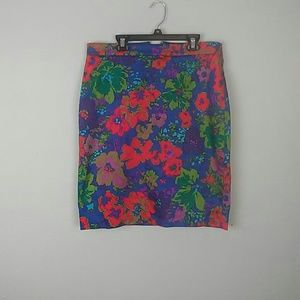J. CREW | The pencil skirt floral size 8